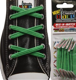 U-LACE VETERS Mix-n-Match Groen (Kelly Green)