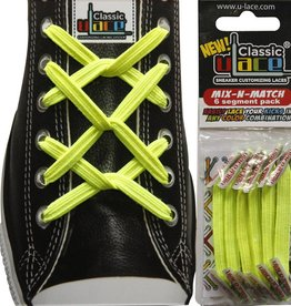 U-LACE VETERS Mix-n-Match Neon Geel