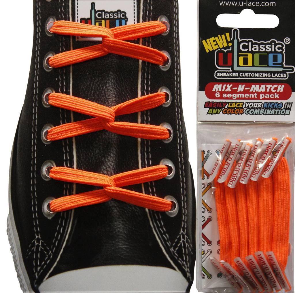 U-LACE VETERS U-Lace veters Mix-n-Match Neon Oranje