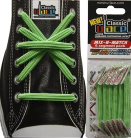 U-LACE VETERS Mix-n-Match Neon Groen