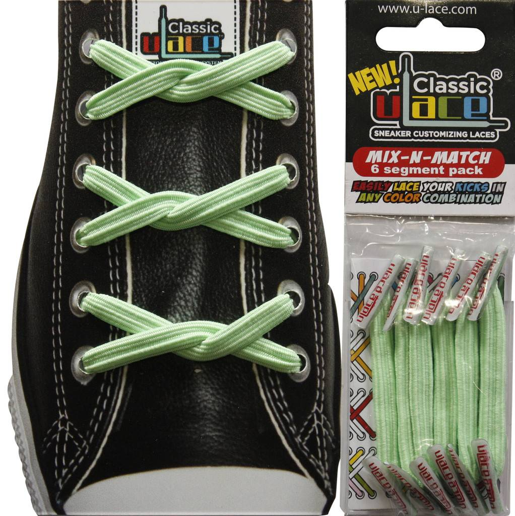 U-LACE VETERS U-Lace veters Mix-n-Match Mint Groen