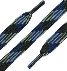 SL LINE Zwart-Blauw-Grijs 150cm Platte Outdoor Veters
