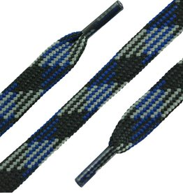 SL LINE Zwart-Blauw-Grijs 180cm Platte Outdoor Veters