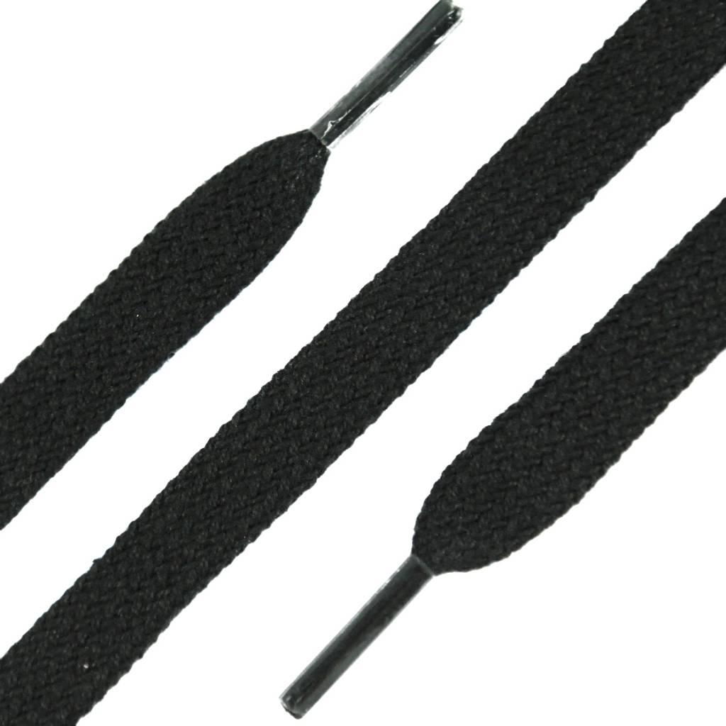 SL Line Platte Veters Zwart 120cm