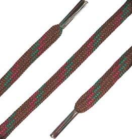 SL Line Bruin-Rood-Groen 120cm Ronde Outdoor Veters