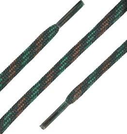 SL Line Zwart-Groen-Bruin 150cm Ronde Outdoor Veters