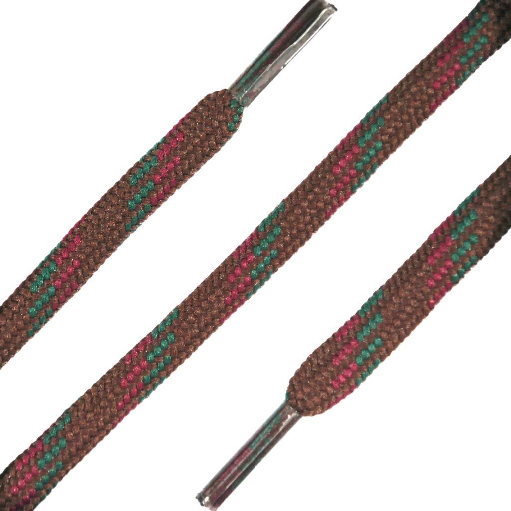 SL Line Ronde Outdoor Veters Bruin-Rood-Groen 150cm
