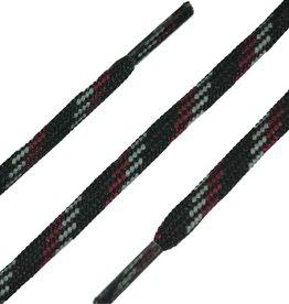 SL Line Zwart-Grijs-Rood 180cm Ronde Outdoor Veters
