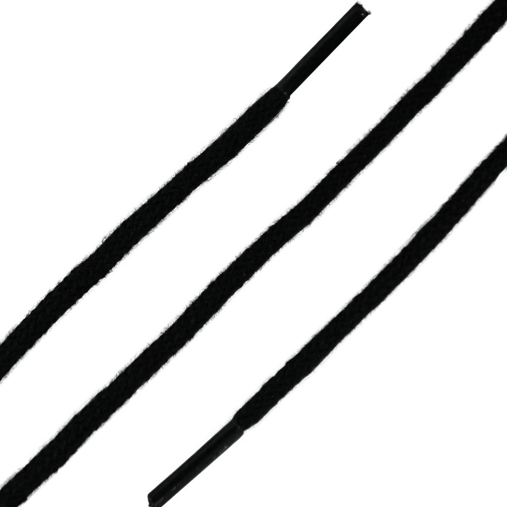 SL LINE Dunne Ronde Veters Zwart 150cm