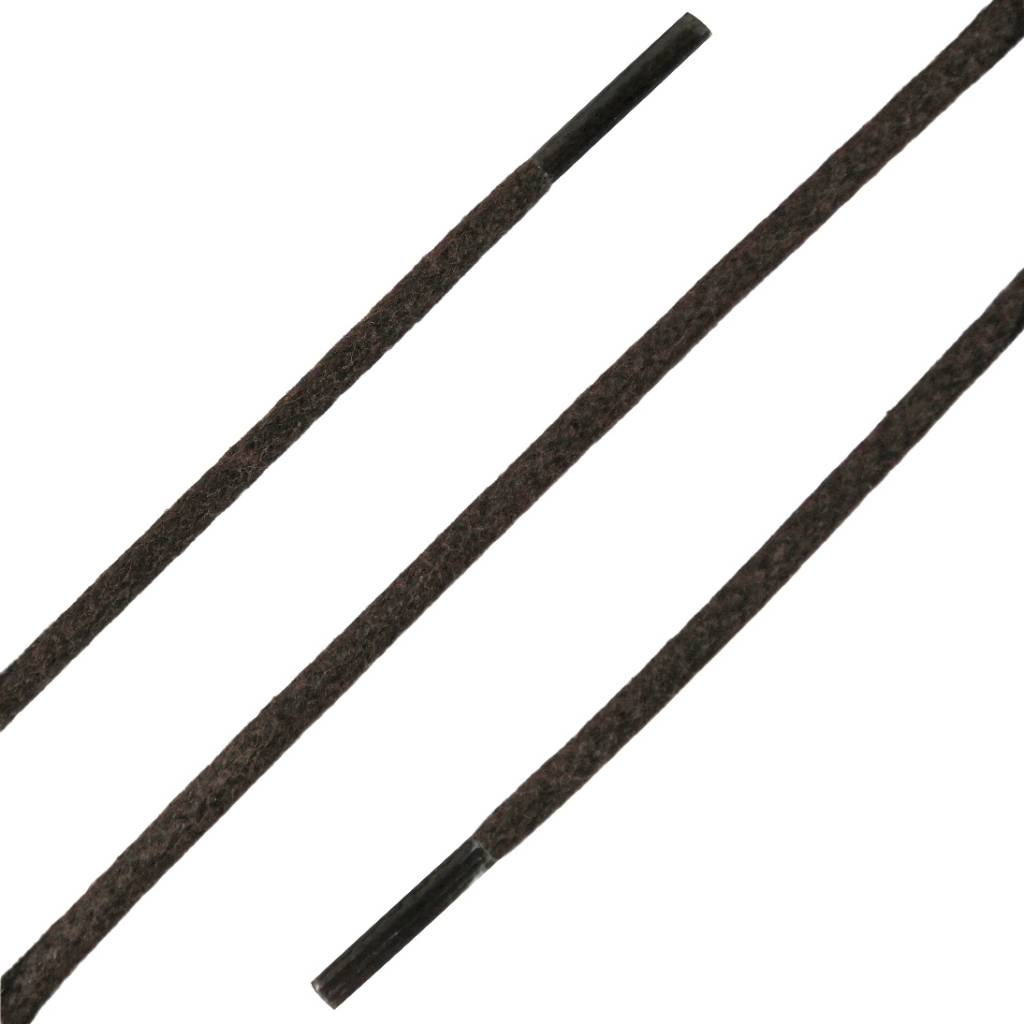 SL LINE Dunne Ronde Wax Veters Donkerbruin 90cm