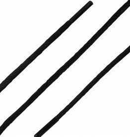 SL LINE Zwart 150cm Dunne Ronde Wax Veters