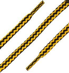 SL Line Zwart-Geel 120cm Dikke Ronde Veters