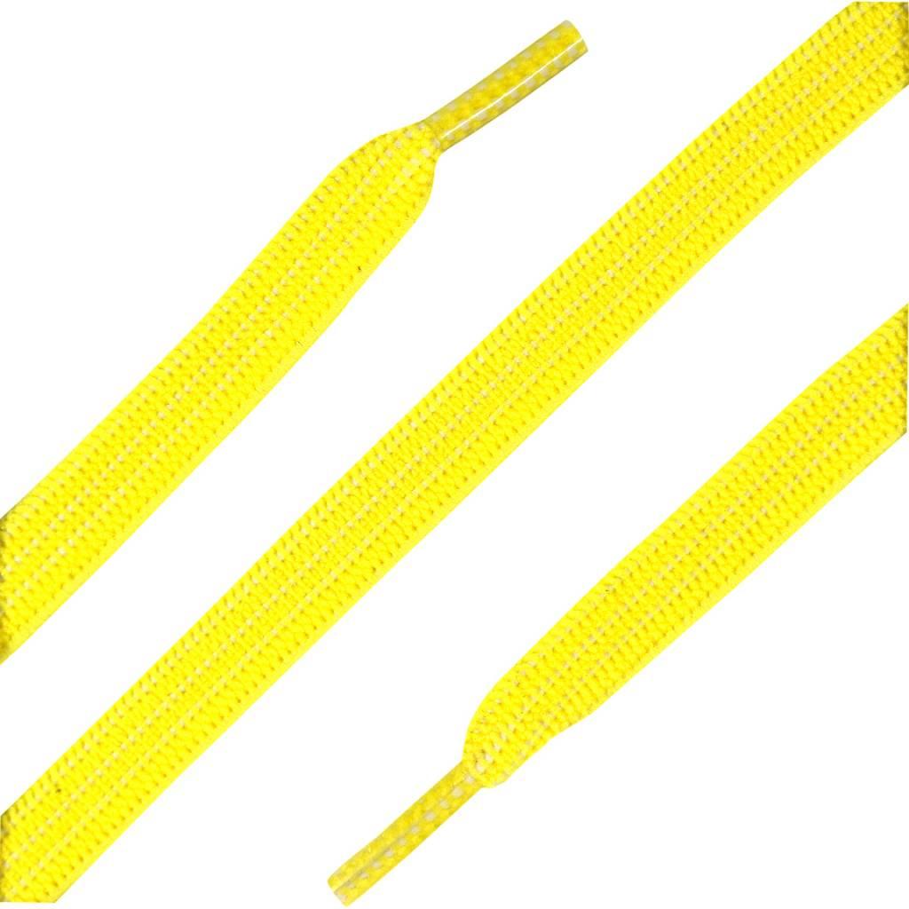 ShoeSupply.eu Elastische Veters plat Geel 90cm