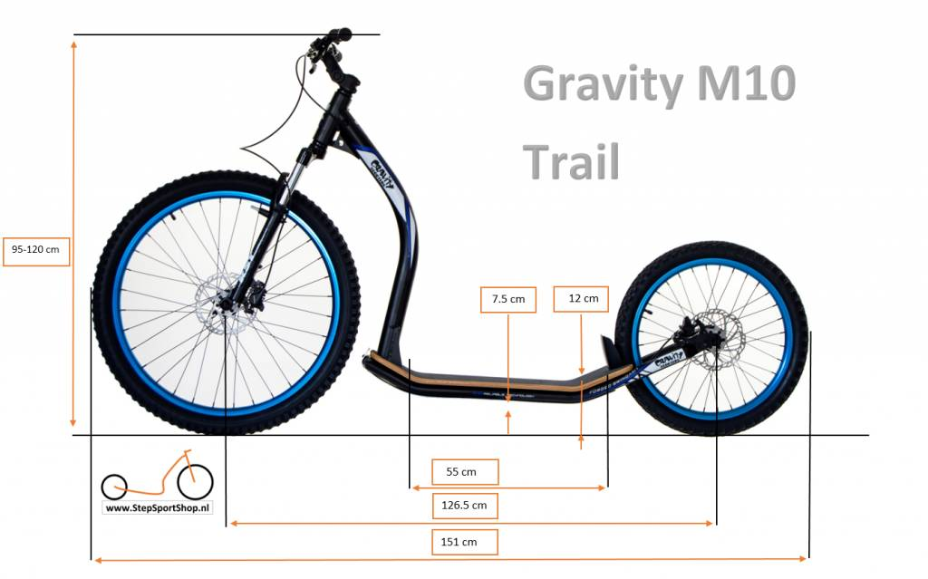 Gravity free scooters. Gravity M10 Trail