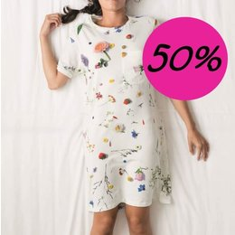 SNURK Dames T-shirt Dress Flower Fields