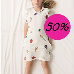 SNURK Kids T-shirt Dress Candy Blast