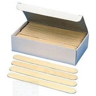 Tongspatels hout, disposable, doosje van 100 st.