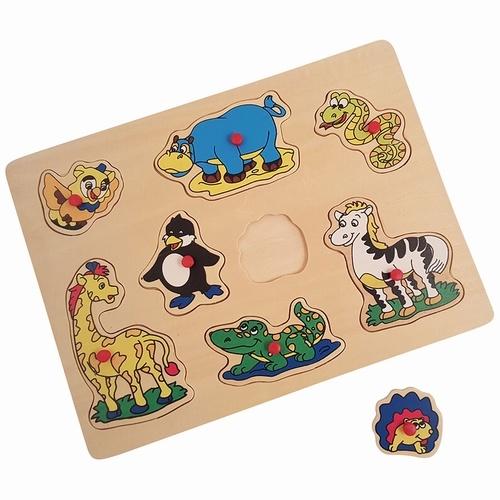 Playwood Insteek puzzel giraffe 8 stukjes
