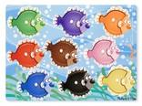 Melissa & Doug Knopjes puzzel vissen op kleur