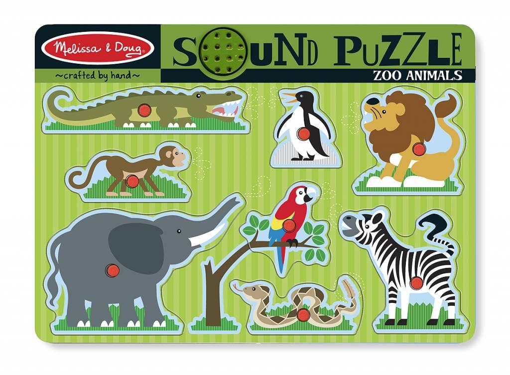Melissa & Doug Geluiden puzzel dierentuin dieren