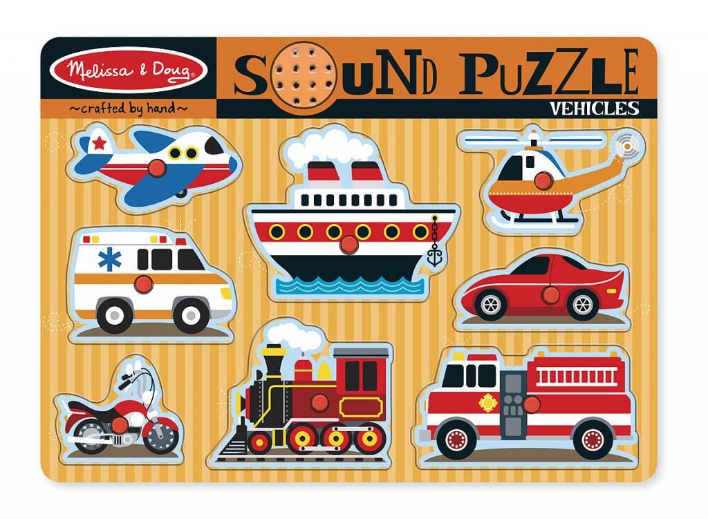 Melissa & Doug Geluiden puzzel voertuigen
