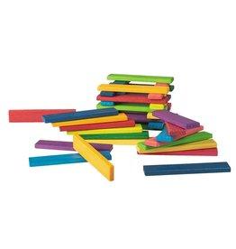 Jouéco Gekleurde houten latjes (40 stuks)