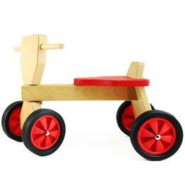 Playwood Loopfietsje hout rood