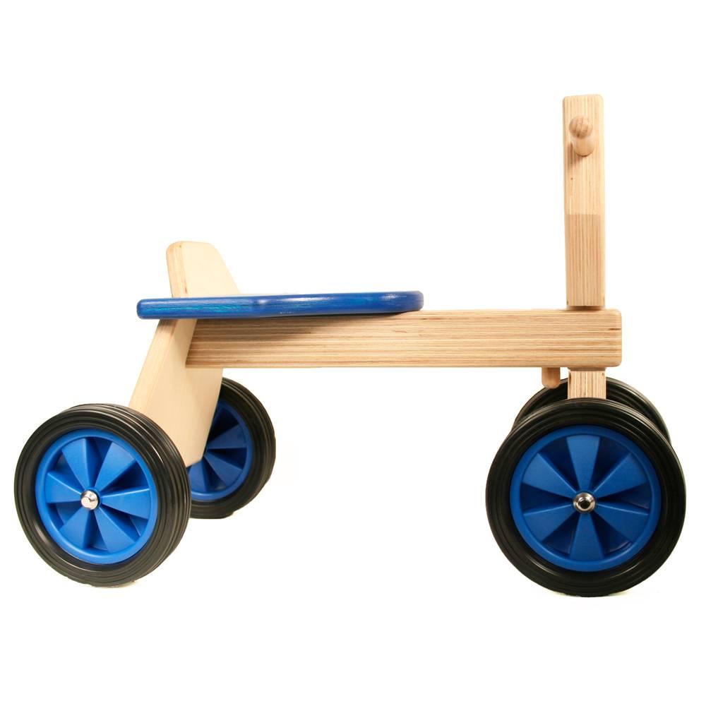 Playwood Loopfietsje hout blauw