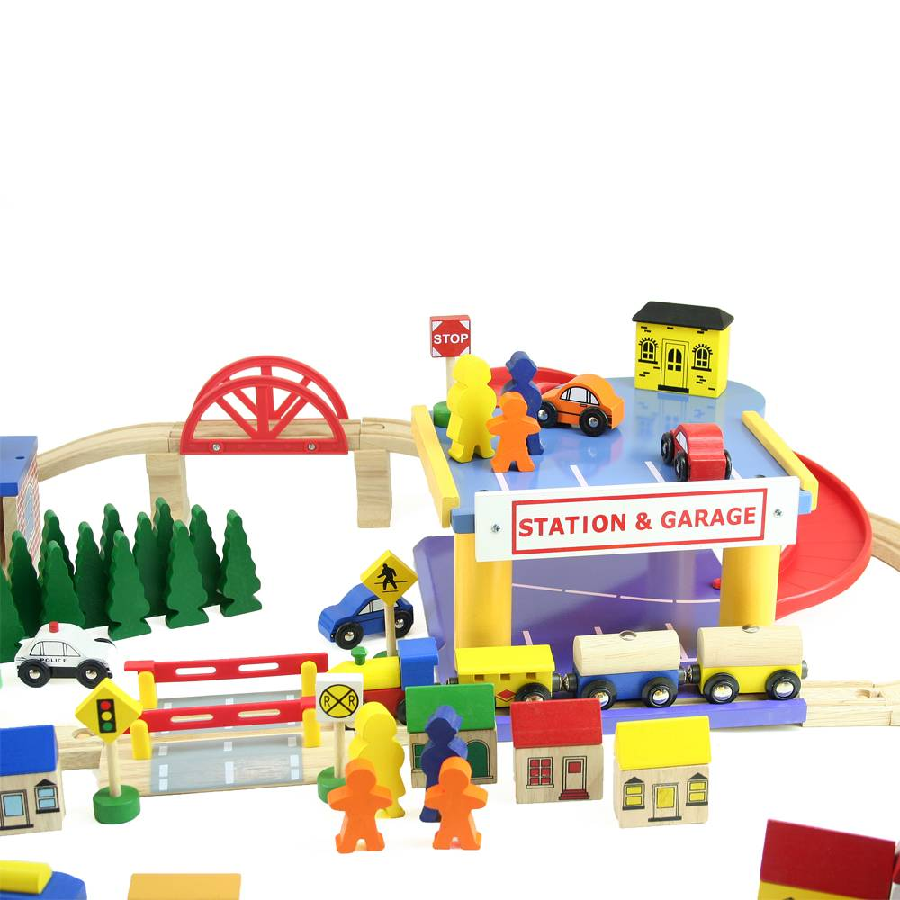Mentari Treinbaan met garage 110 delig