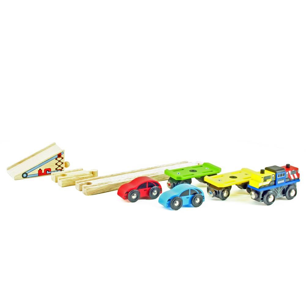 Mentari Trein met 2 auto's en 2 transportwagons