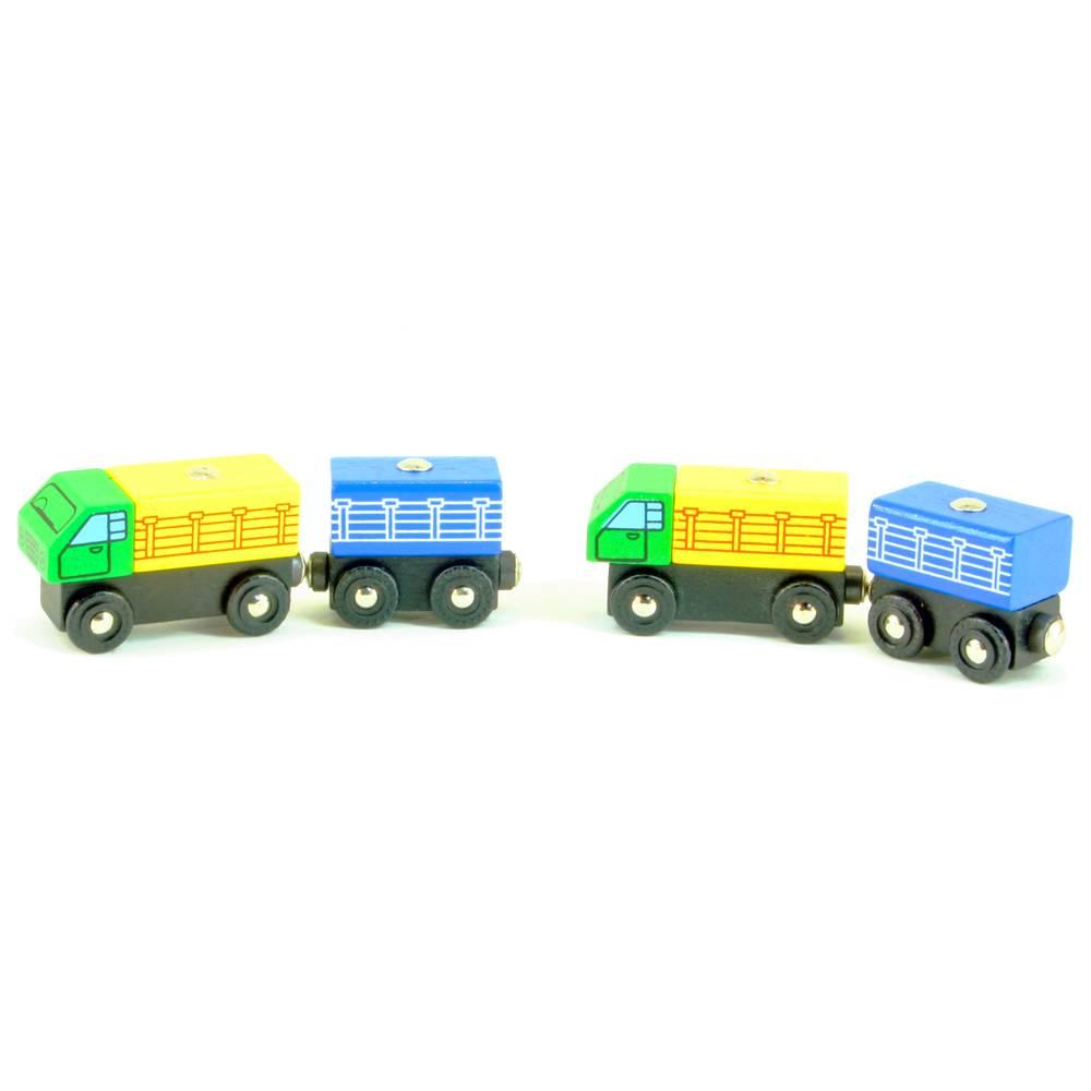 Mentari Vrachtwagen met aanhanger (2 stuks)