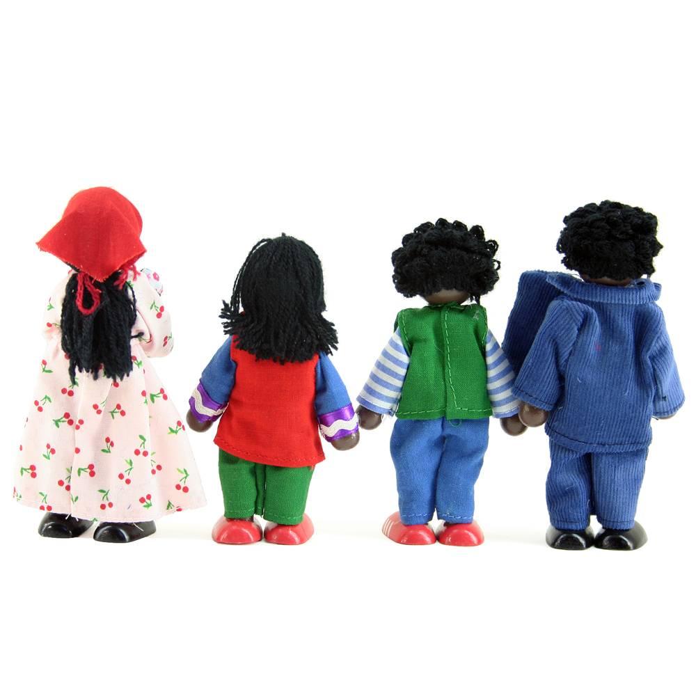 Buigpoppen familie voor poppenhuis