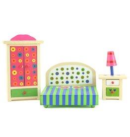 Vrolijk gekleurde slaapkamer