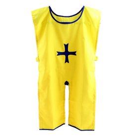 Ridder tuniek geel met blauw
