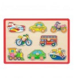 Jouéco Knopjes puzzel vervoersmiddelen