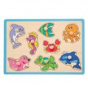 Jouéco Knopjes puzzel zeedieren