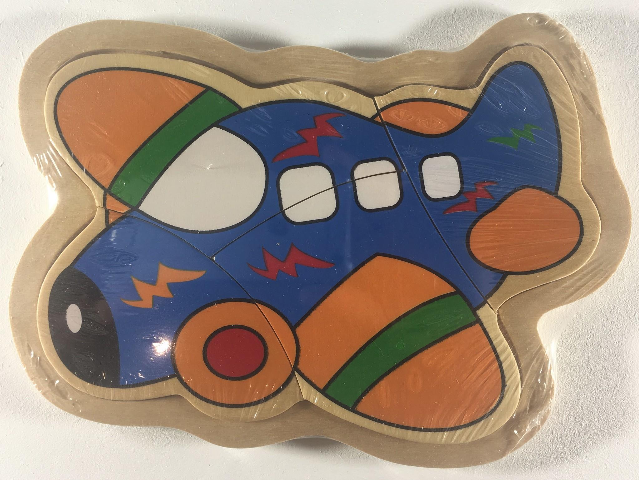 Legpuzzel klein vliegtuig 17,5 x 13 cm