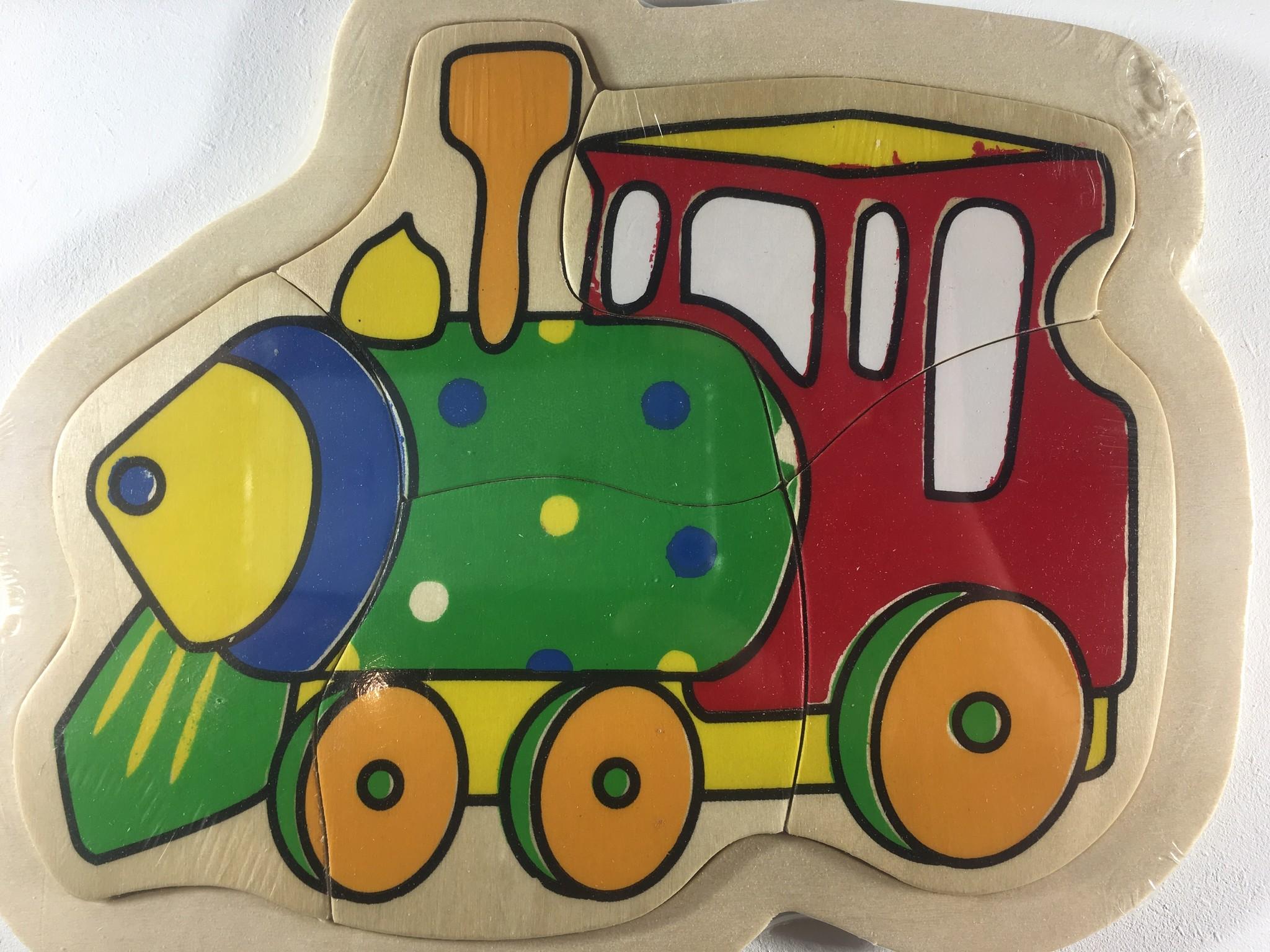Legpuzzel klein locomotief 4 stukjes