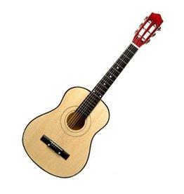 Playwood Blanken houten reuzen gitaar