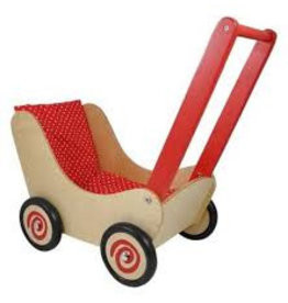 Simply for Kids Blank houten poppenwagen