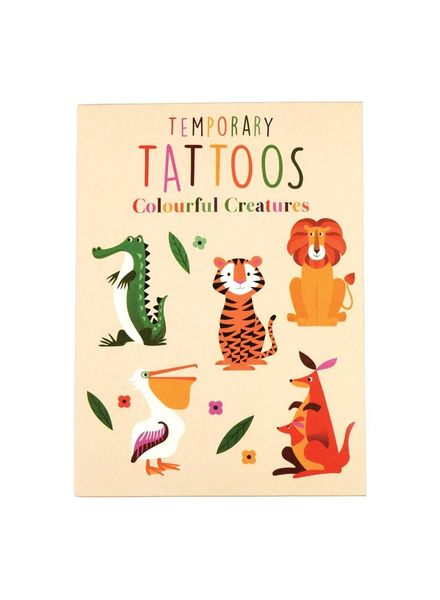 Dotcomgiftshop TATTOOS COLOURFUL CREATURES