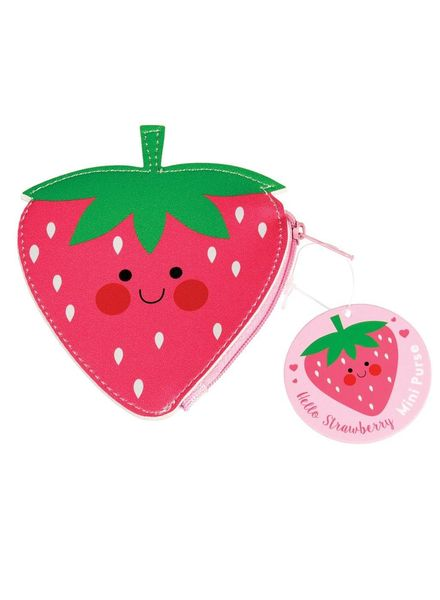 HELLO STRAWBERRY VINYL PURSE
