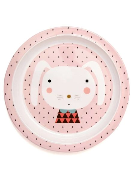 Petit Monkey Melamine Plate Rabbit - Drops