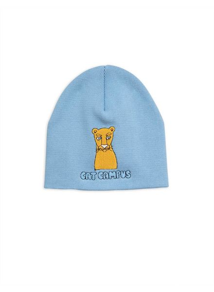 Mini Rodini Cat campus patch hat - light blue