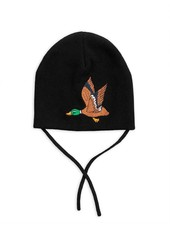 Mini Rodini Duck patch hat - black