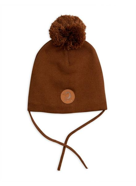 Mini Rodini Penguin hat - brown