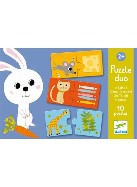 Djeco Puzzle Duo/Trio - Zu tisch!