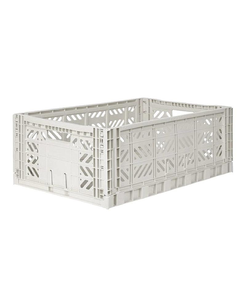 Ay-kasa Folding Crate - light grey