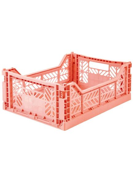 Ay-kasa Folding Crate - salmon pink