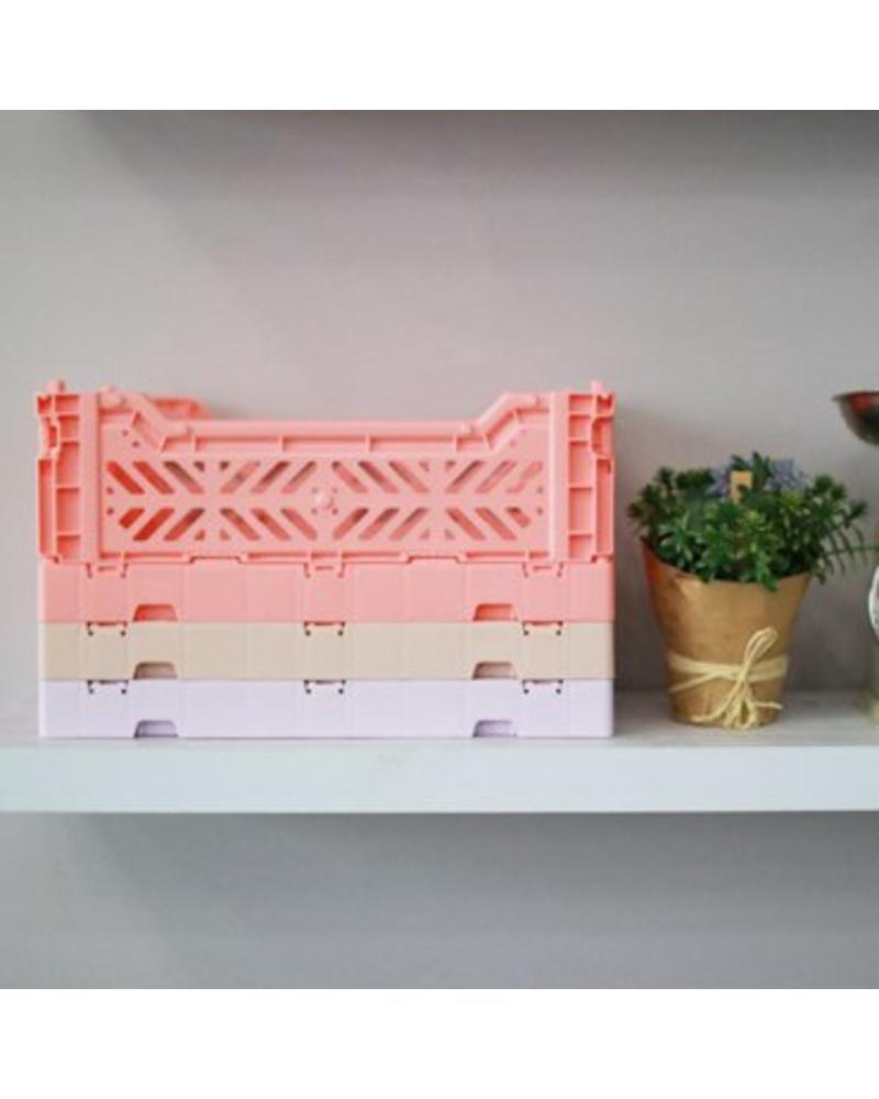 Ay-kasa Folding Crate - salmon pink